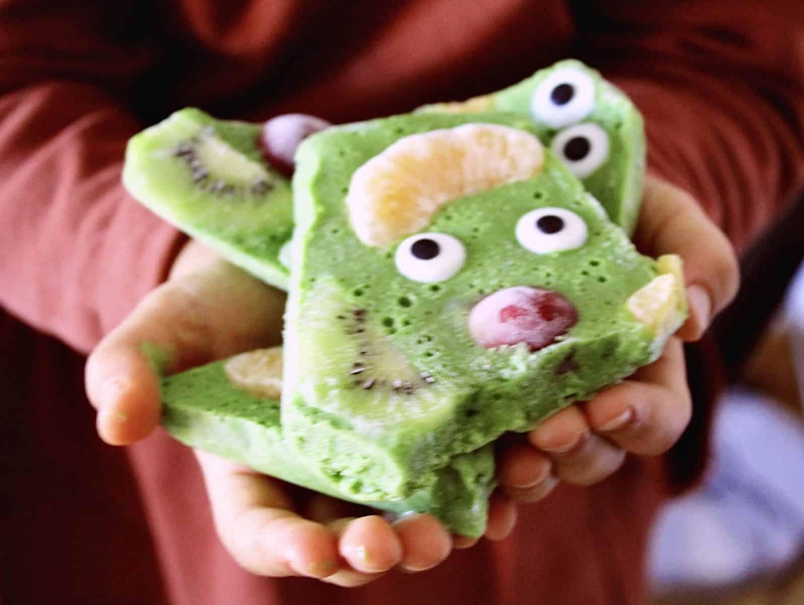 Monstro verde de Halloween
